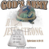 B6337-God's Army. .  Be Strong, Jesus Strong
